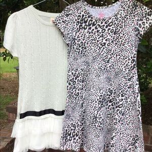 Girls Lot of 2 Faded Glory Dresses, Animal Print